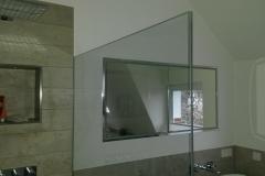 Spiegelschrank und Niesche im Trockenbau eingelassen