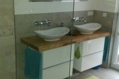 bodenebene Dusche mit Festverglasung 120cm